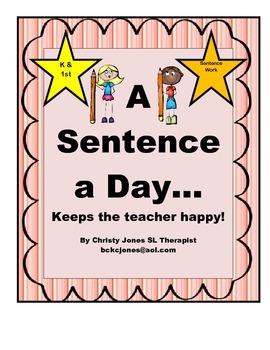 SENTENCE WRITING-GRADE K-1
