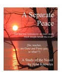 A Separate Peace Close Reading Study Guide, 31 Pages, Answer Keys