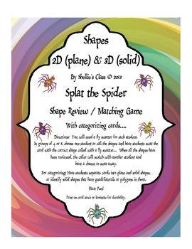Shape Attribute - Splat that Spider - Game