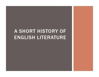A Short History of English (Intro Lesson for AP English Li