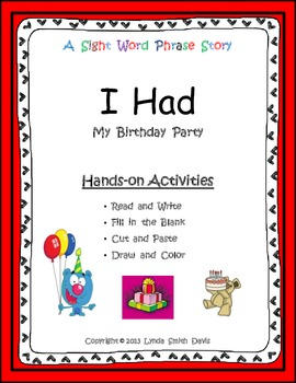 Birthday Party - Sight Word Phrase Story