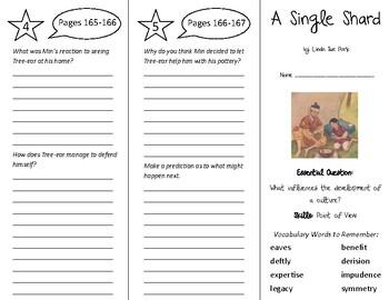 A Single Shard Trifold - Wonders 6th Grade Unit 2 Week 4