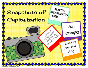 A Snapshot of Capitalization--rules sort