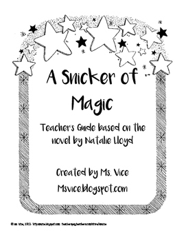 A Snicker of Magic Teacher's Guide
