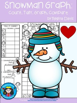 A+ Snowman Graph: Count, Tally, Graph, and Compare