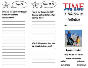 A Solution to Pollution Trifold - California Treasures 3rd