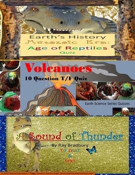 A Sound of Thunder, Volcanoes & Mesozoic Quizzes & Activit