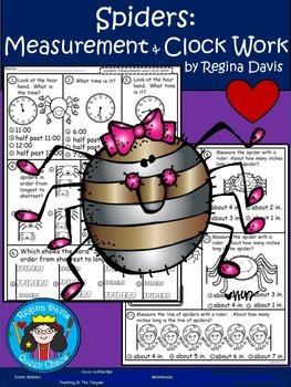 A+ Spider  Math: Clocks and Measurement
