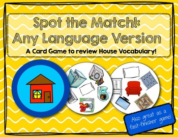 Spot the Match game for House & Furniture Vocabulary: Work