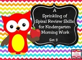 A Sprinkling of Spiral Review Morning Work Set 3
