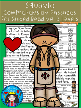 A+ Squanto Comprehension:Differentiated Instruction For Gu