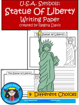A+ U.S.A. Symbols: Statue of Liberty Writing Paper