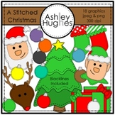 A Stitched Christmas {Graphics for Commercial Use}