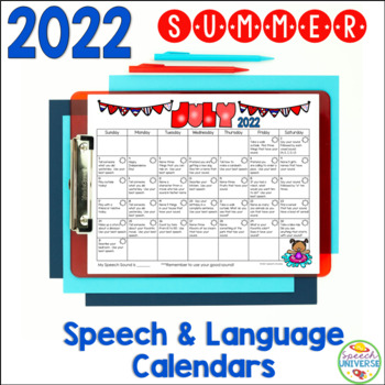 A Summer of Speech and Language: Calendars