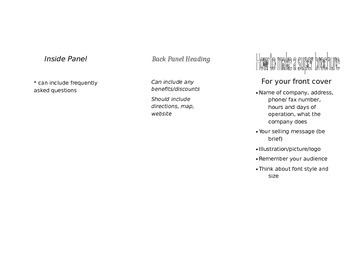 A Super brochure (editable)