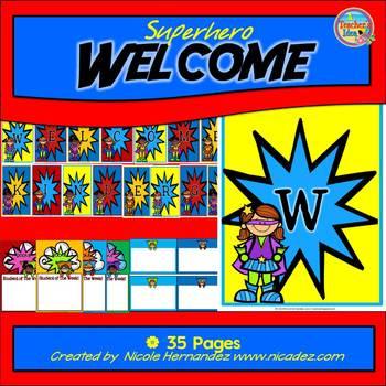 Banners {Superhero Welcome To Kindergarten}