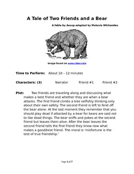 A Tale of Two Friends and a Bear - Small Group Reader's Th