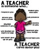 A Teacher - Classroom Poster [someone who]