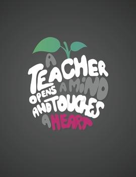 A Teacher Opens a Mind Chalkboard Digital Print
