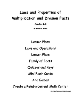 A Teacher Resource--Laws and Properties of Multiplication