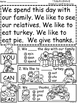 A+ Thanksgiving Comprehension:Differentiated Instruction F