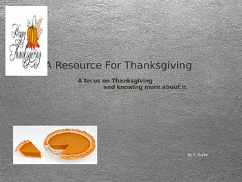 A Thanksgiving Resource