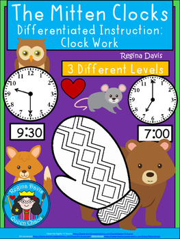 A+ The Mitten Analog Clock & Digital Clock Work (Hour & Ha