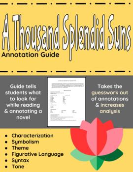 A Thousand Splendid Suns Annotation Guide