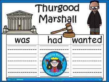 A+ Thurgood Marshall... Three Graphic Organizers