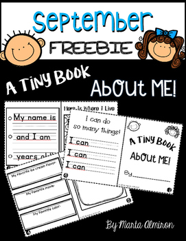 A Tiny Book About Me {FREEBIE}