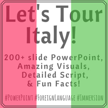 A Tour of Italy!