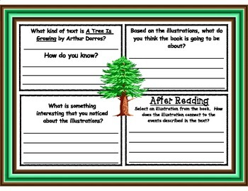 A Tree Is Growing by Arthur Dorros Picture Walk Graphic Organizer