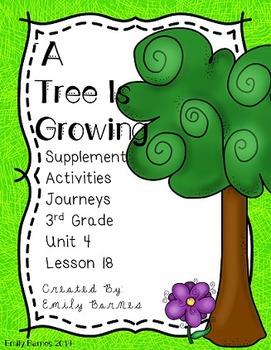 A Tree is Growing Journeys 3rd Grade Supplement Activities