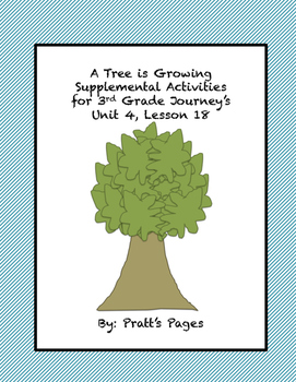 A Tree is Growing Supplemental Activities Journey's Unit 4