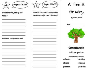 A Tree is Growing Trifold - Storytown 3rd Grade Unit 3 Week 3