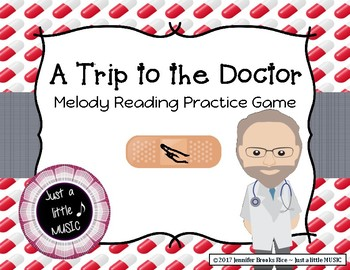 A Trip to the Doctor - Melody Reading Practice Game {re pe