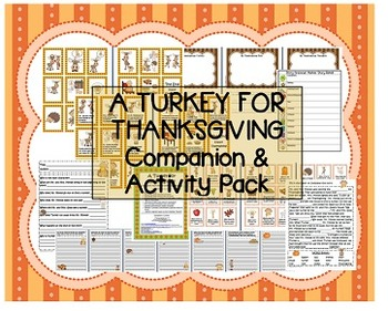 """""""A Turkey For Thanksgiving"""" Eve Bunting Companion Pack com"""