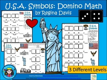 A+ Addition U.S.A. Symbols: Domino Math