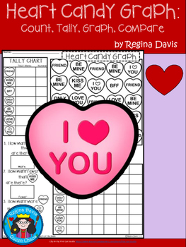 A+ Valentine Heart Candy: Count, Tally, Graph, and Compare