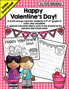 A Valentine's Day Card! A special card for students to giv