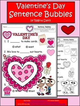 A+ Valentine's Day:Fill In the Blank.Multiple Choice Sight