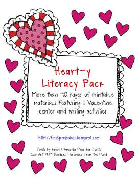 A Valentines Heart-y Literacy Center Pack