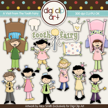 A Visit From The Tooth Fairy -  Digi Clip Art/Digital Stam