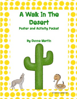 A Walk In The Desert Posters, Word Cards, and Retelling Activity