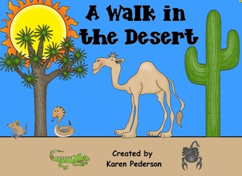 A Walk in the Desert Smart Notebook Activity