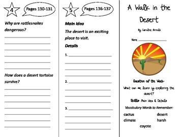 A Walk in the Desert Trifold - Reading Street 2nd Grade Un
