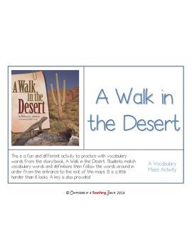 A Walk in the Desert Vocabulary Maze
