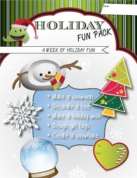 A Week of Holiday Activities - Fun Art, Language, Math, &