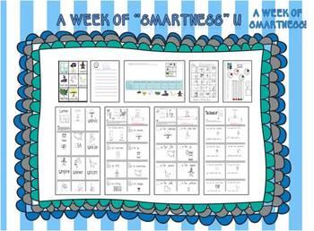 "A Week of ""Smartness"" -A  Week of Smartlessons – Letter Uu"