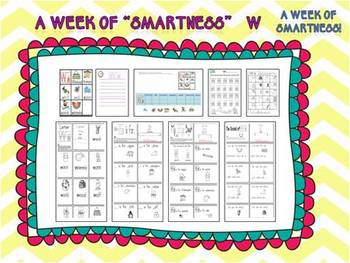 "A Week of ""Smartness"" -A  Week of Smartlessons – Letter Ww"